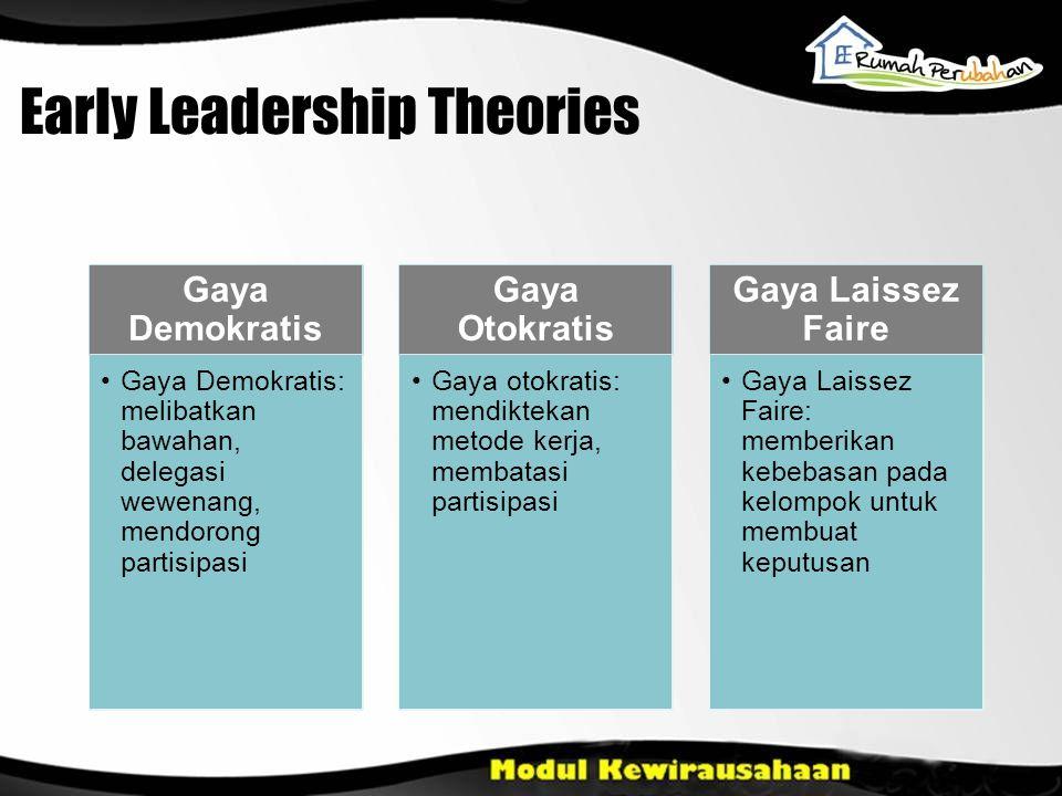 Early Leadership Theories