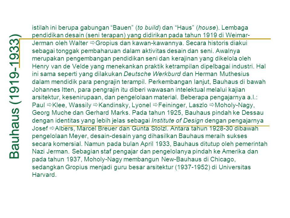 istilah ini berupa gabungan Bauen (to build) dan Haus (house)