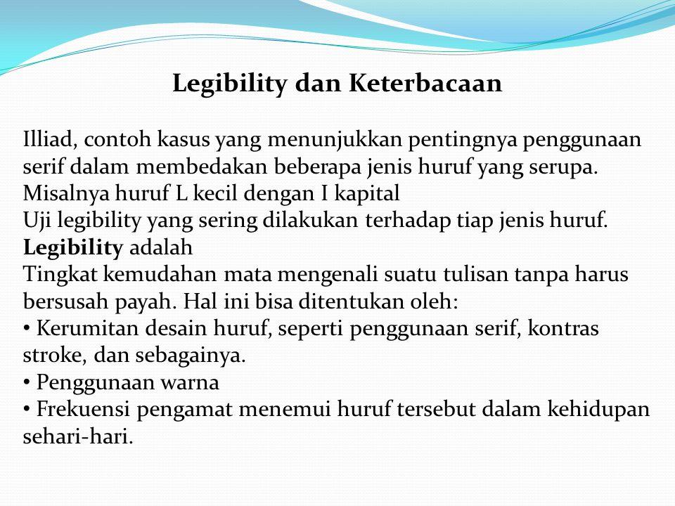 Legibility dan Keterbacaan