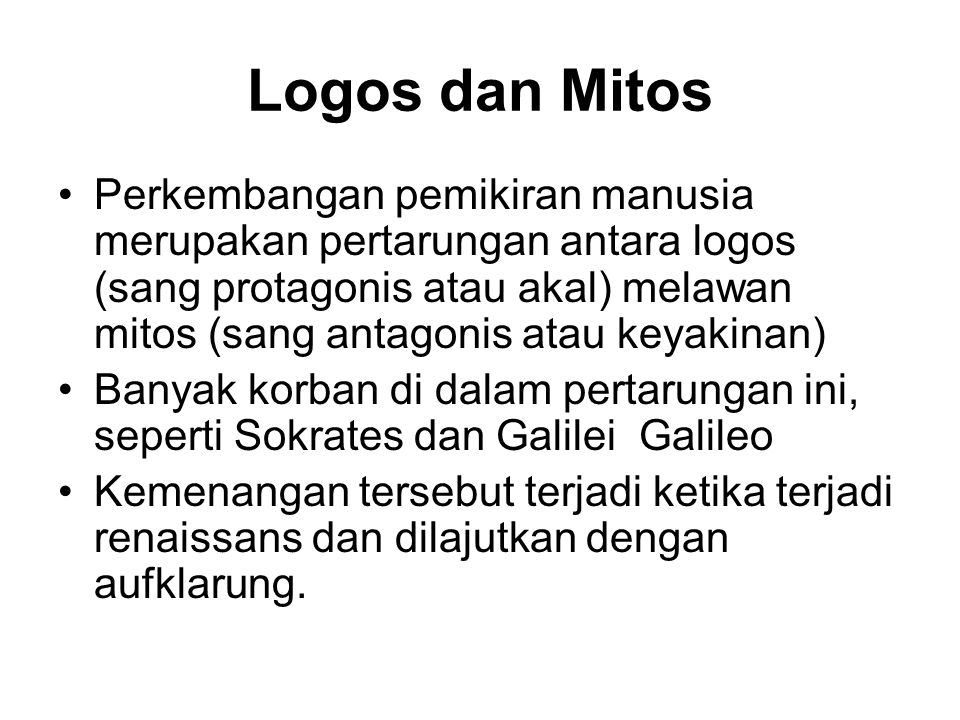 Logos dan Mitos