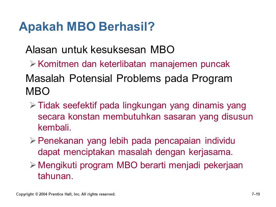 Apakah MBO Berhasil Alasan untuk kesuksesan MBO