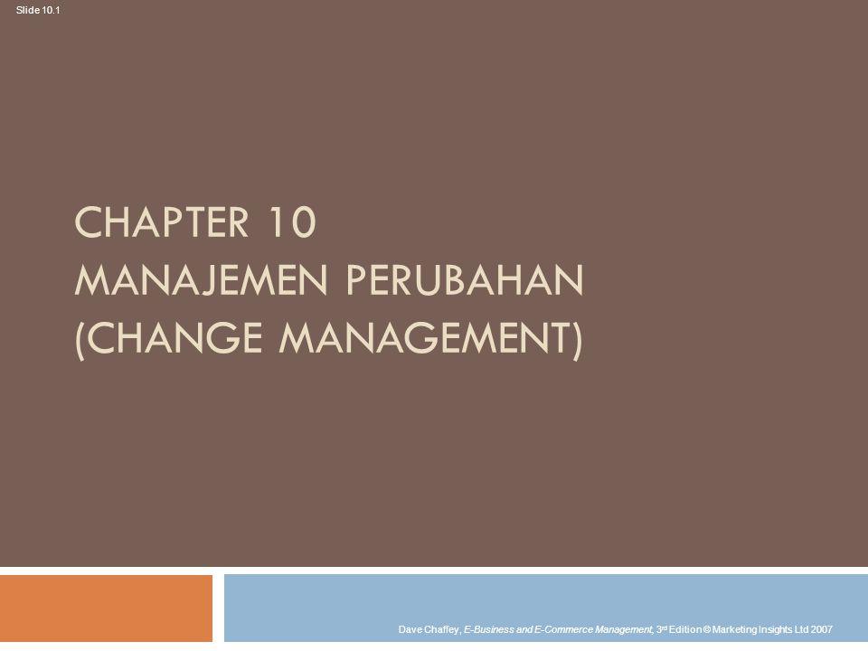 Chapter 10 Manajemen Perubahan (Change management)