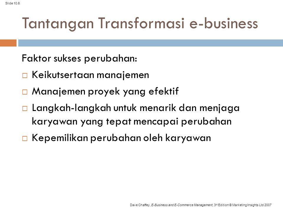 Tantangan Transformasi e-business
