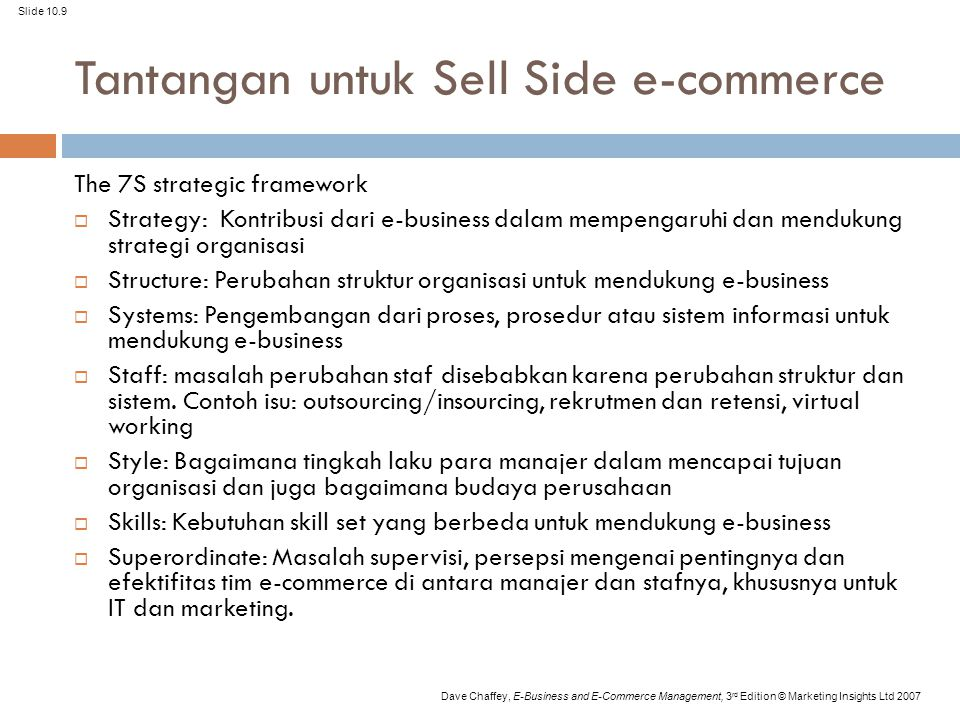Tantangan untuk Sell Side e-commerce