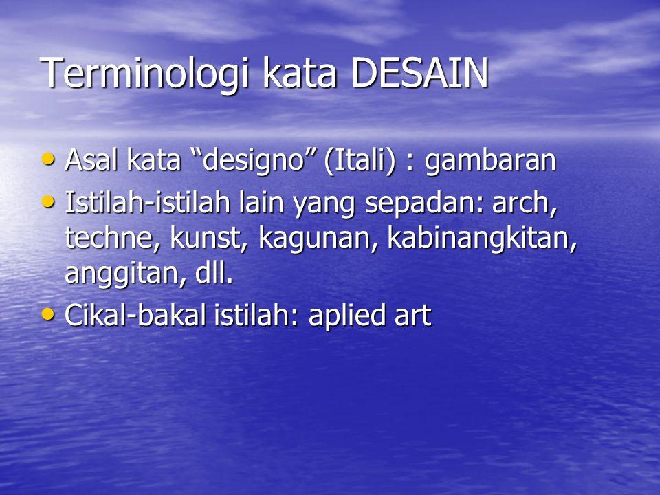 Terminologi kata DESAIN