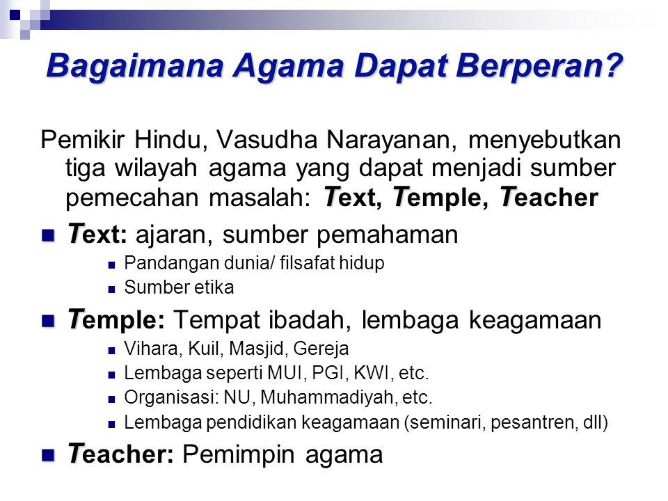 Bagaimana Agama Dapat Berperan