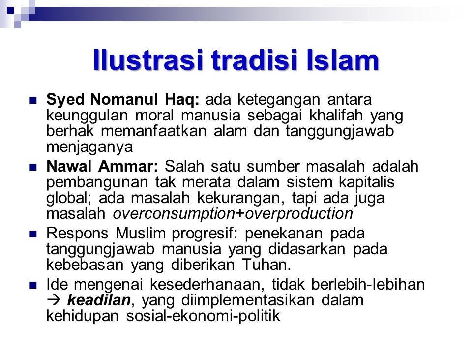 Ilustrasi tradisi Islam