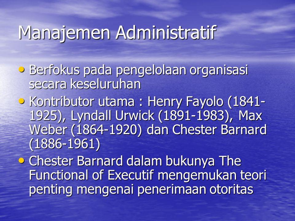Manajemen Administratif
