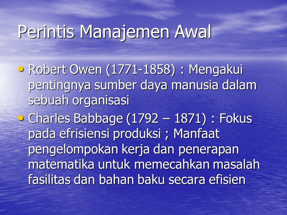 Perintis Manajemen Awal