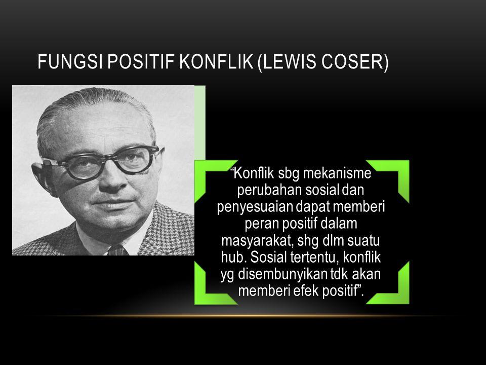 Fungsi Positif Konflik (Lewis Coser)