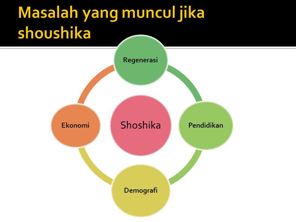Masalah yang muncul jika shoushika