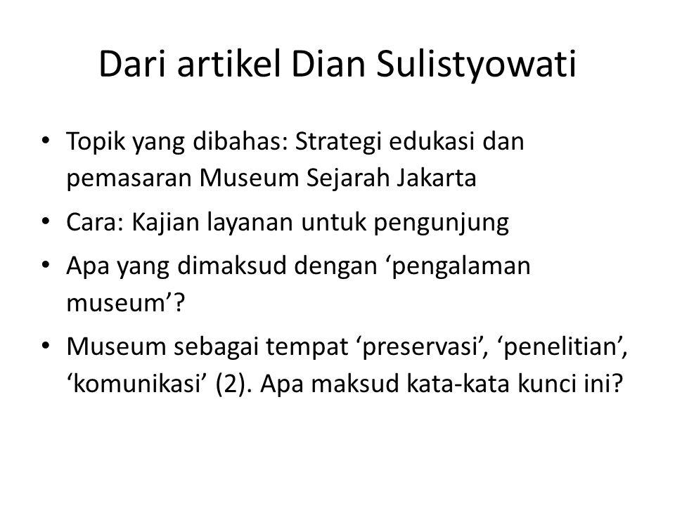 Dari artikel Dian Sulistyowati