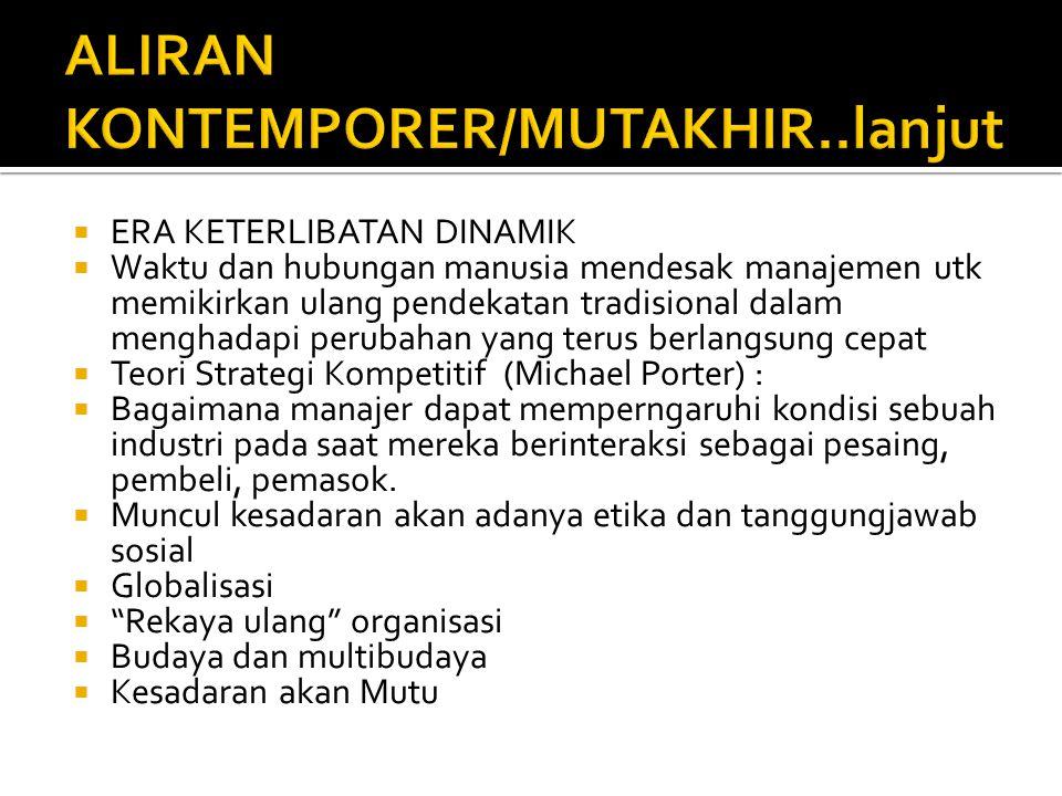 ALIRAN KONTEMPORER/MUTAKHIR..lanjut