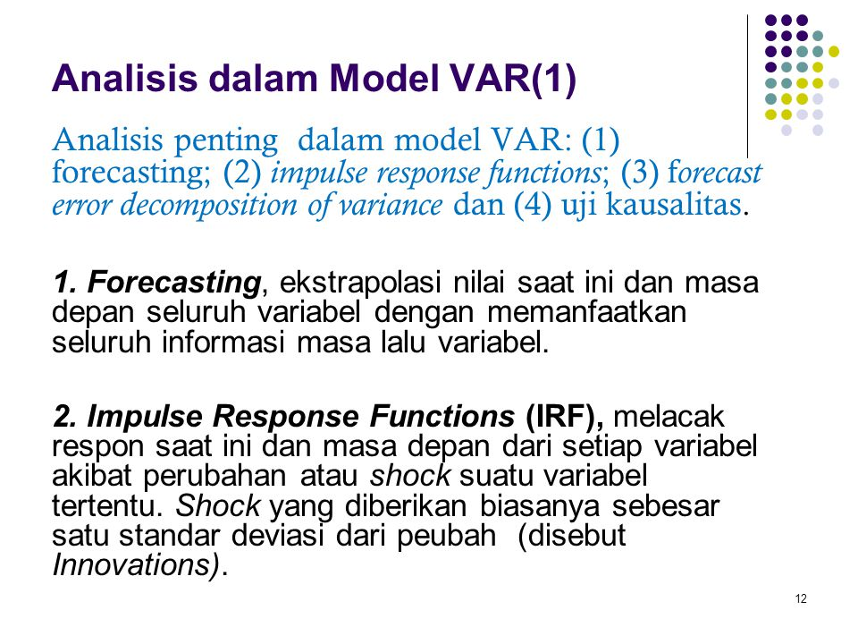 Analisis dalam Model VAR(1)