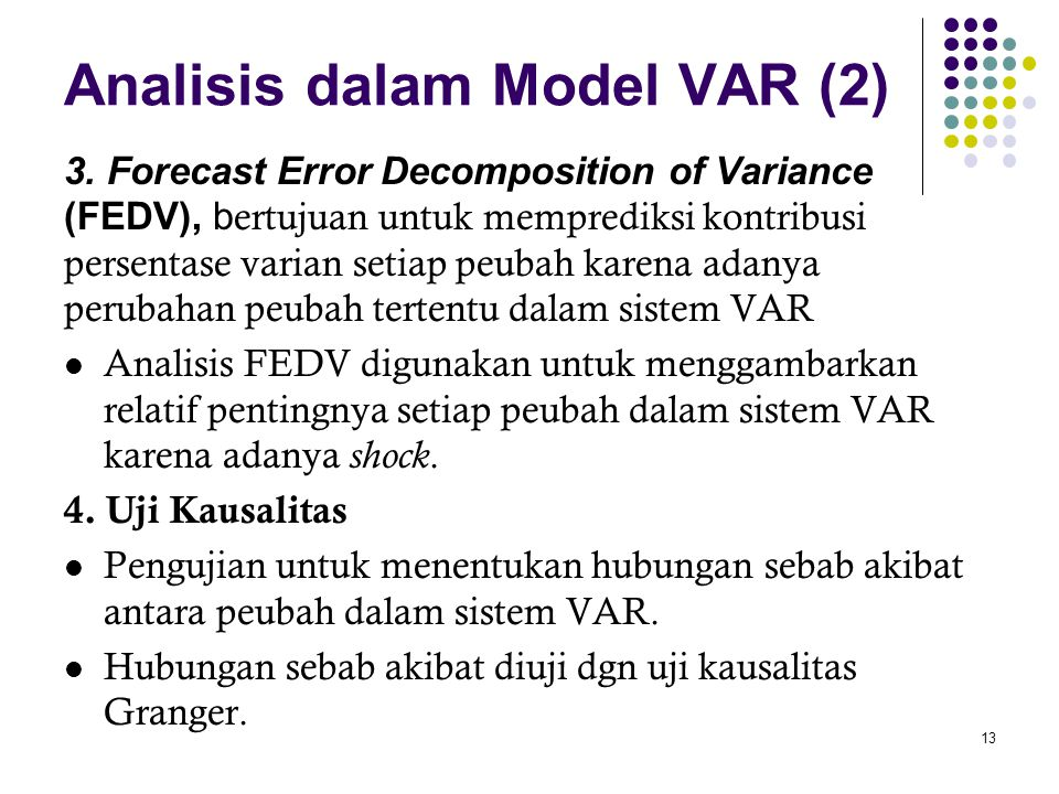 Analisis dalam Model VAR (2)