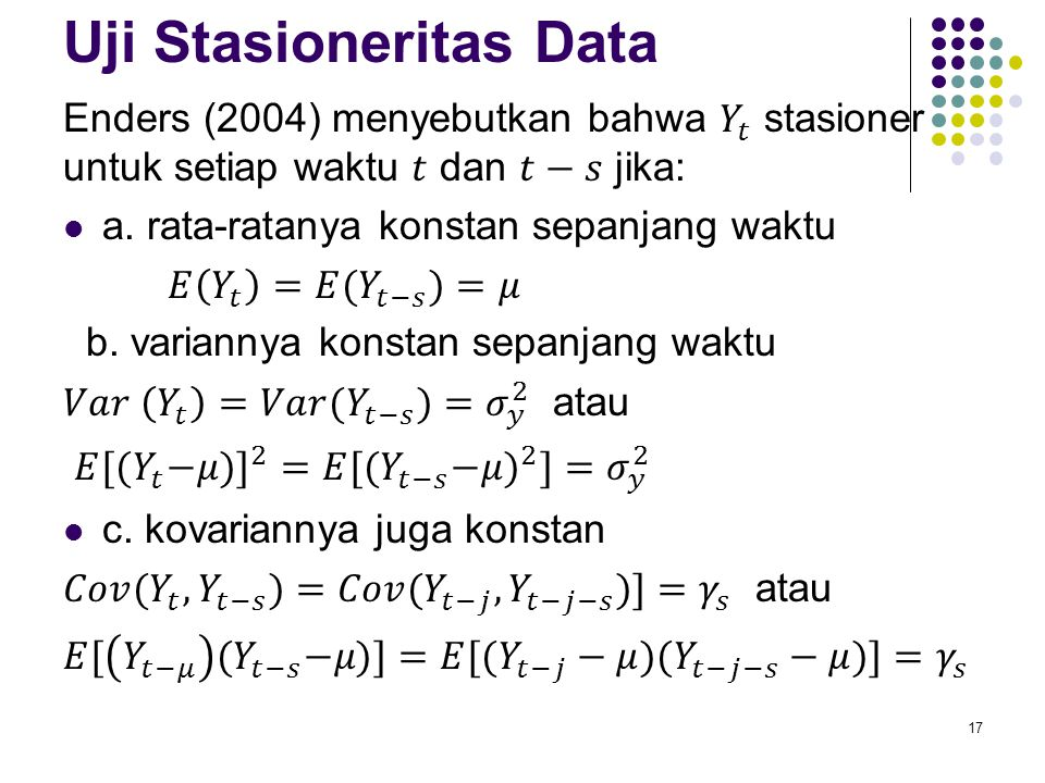 Uji Stasioneritas Data
