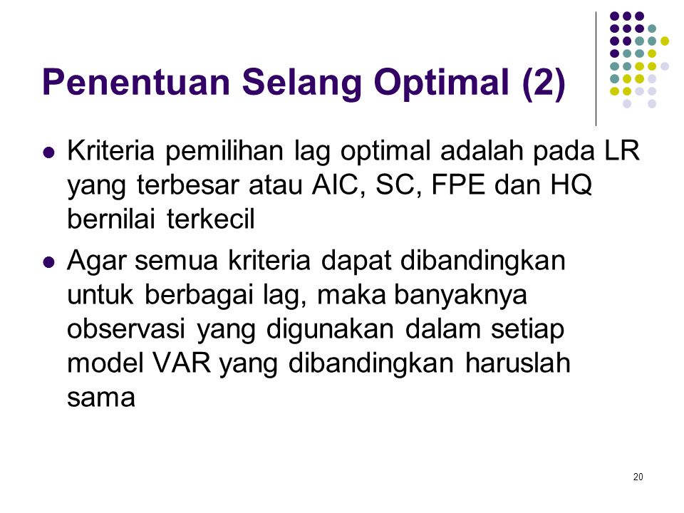 Penentuan Selang Optimal (2)