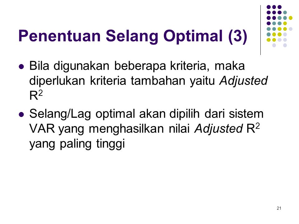 Penentuan Selang Optimal (3)