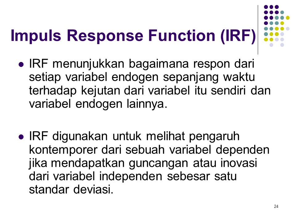 Impuls Response Function (IRF)