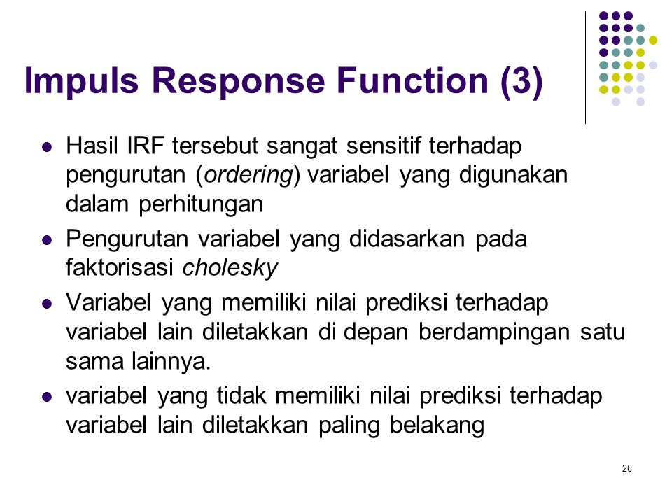 Impuls Response Function (3)