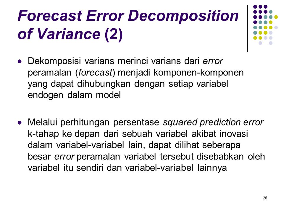 Forecast Error Decomposition of Variance (2)