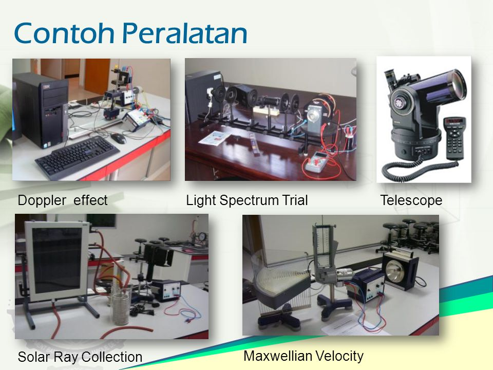 Contoh Peralatan Doppler effect Light Spectrum Trial Telescope