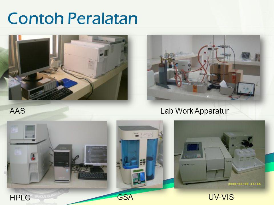 Contoh Peralatan AAS Lab Work Apparatur HPLC GSA UV-VIS