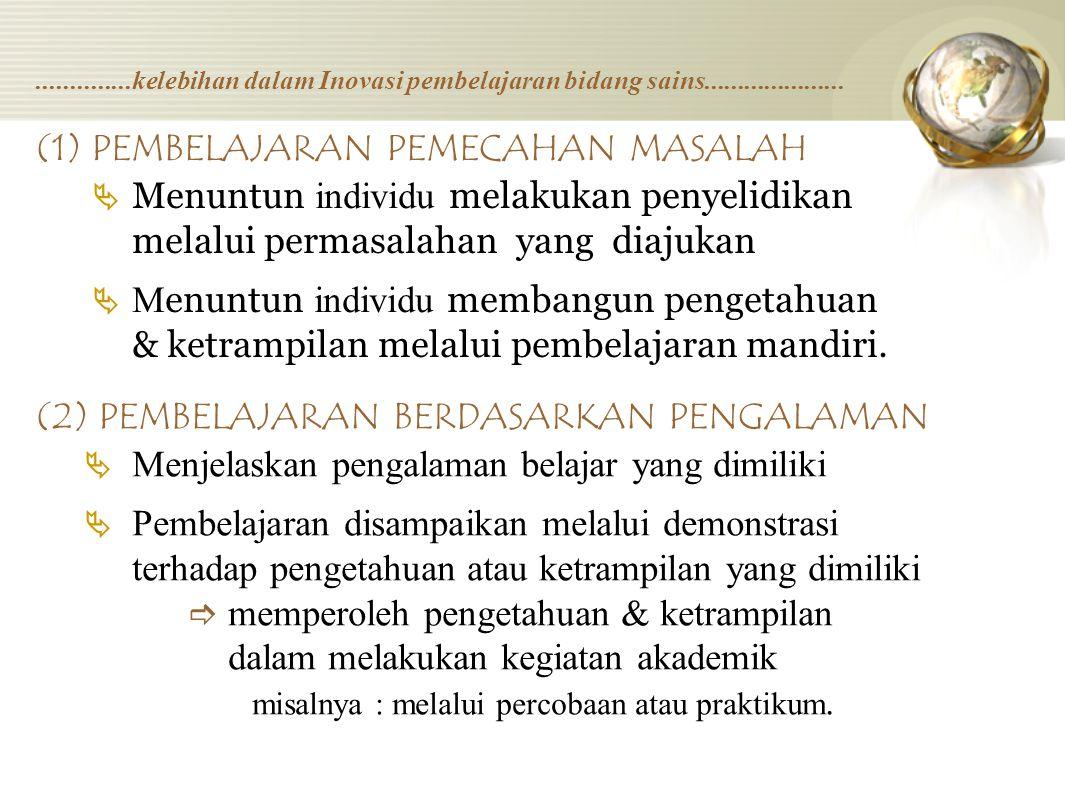 (1) PEMBELAJARAN PEMECAHAN MASALAH