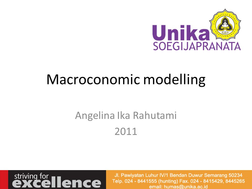 Macroconomic modelling