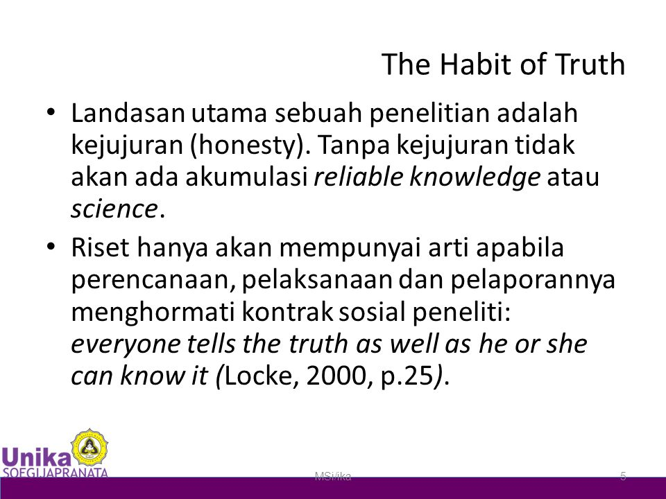 The Habit of Truth