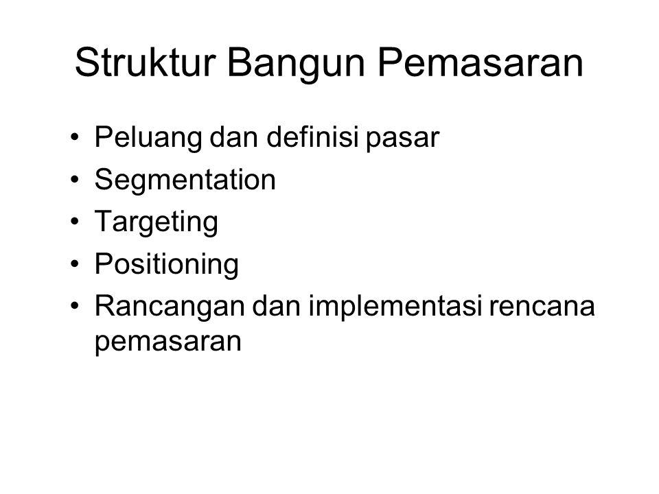 Struktur Bangun Pemasaran