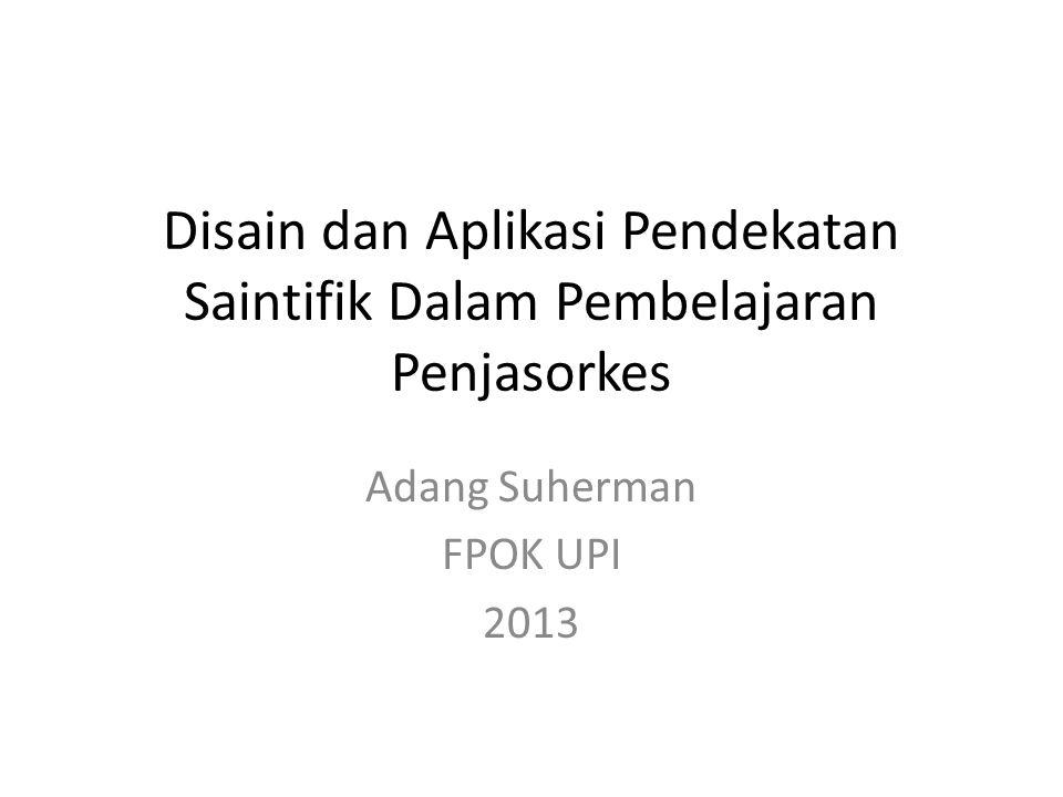 Adang Suherman FPOK UPI 2013