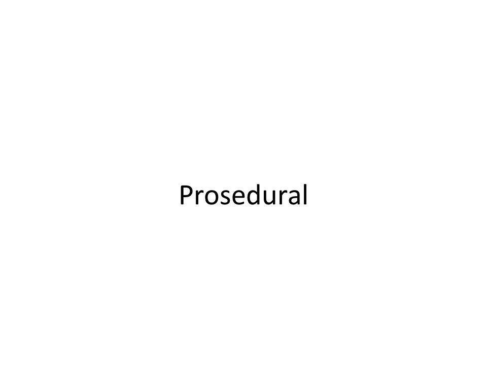 Prosedural