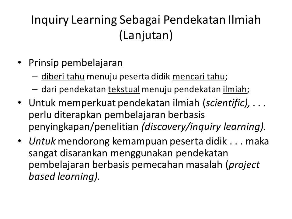 Inquiry Learning Sebagai Pendekatan Ilmiah (Lanjutan)