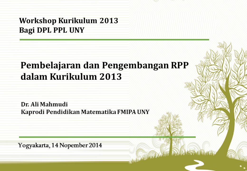 Pembelajaran dan Pengembangan RPP dalam Kurikulum 2013