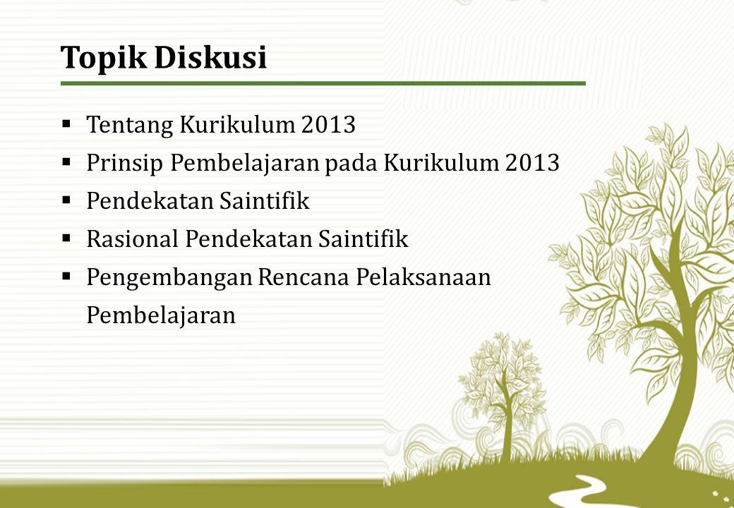 Topik Diskusi Tentang Kurikulum 2013