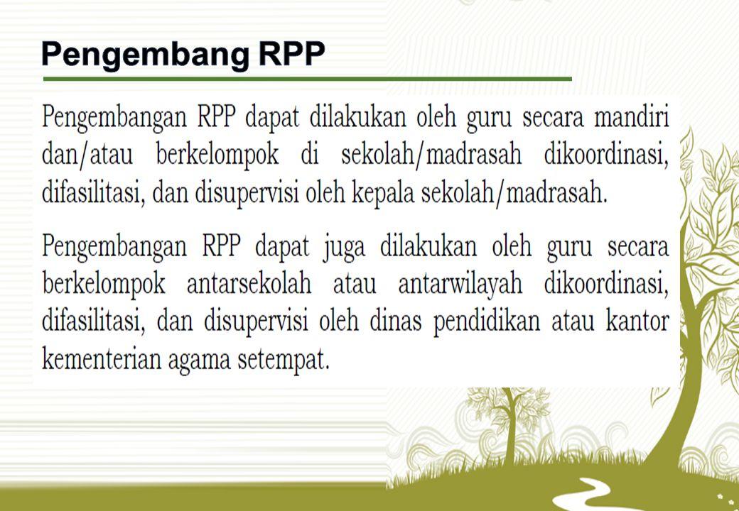Pengembang RPP RPP, dalam bentuk langkah-langkah