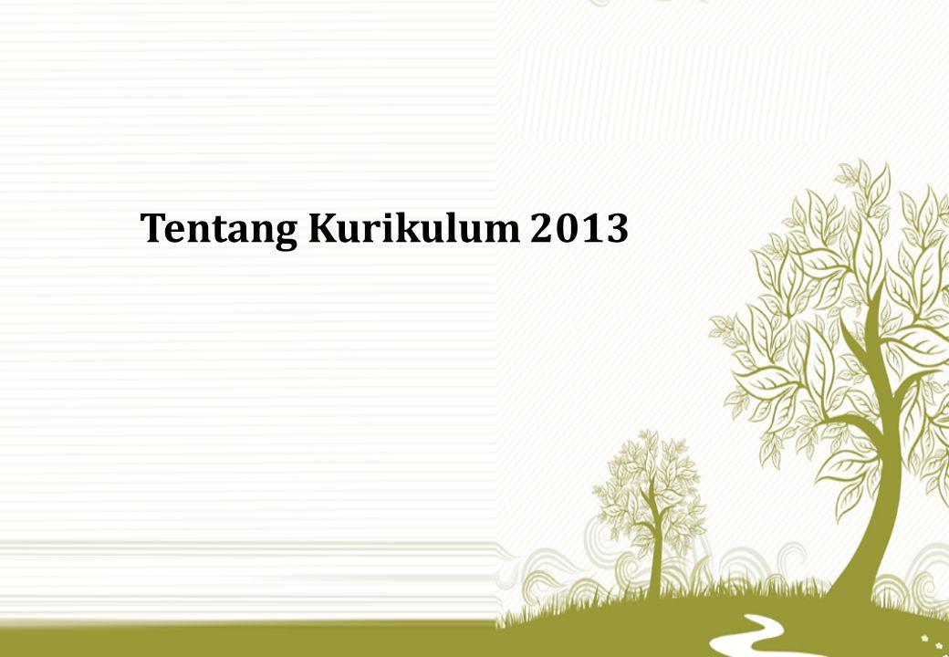 Tentang Kurikulum 2013