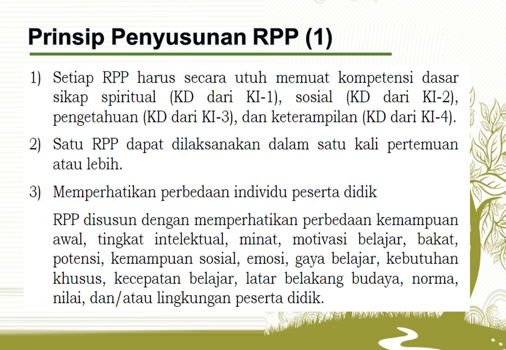 Prinsip Penyusunan RPP (1)