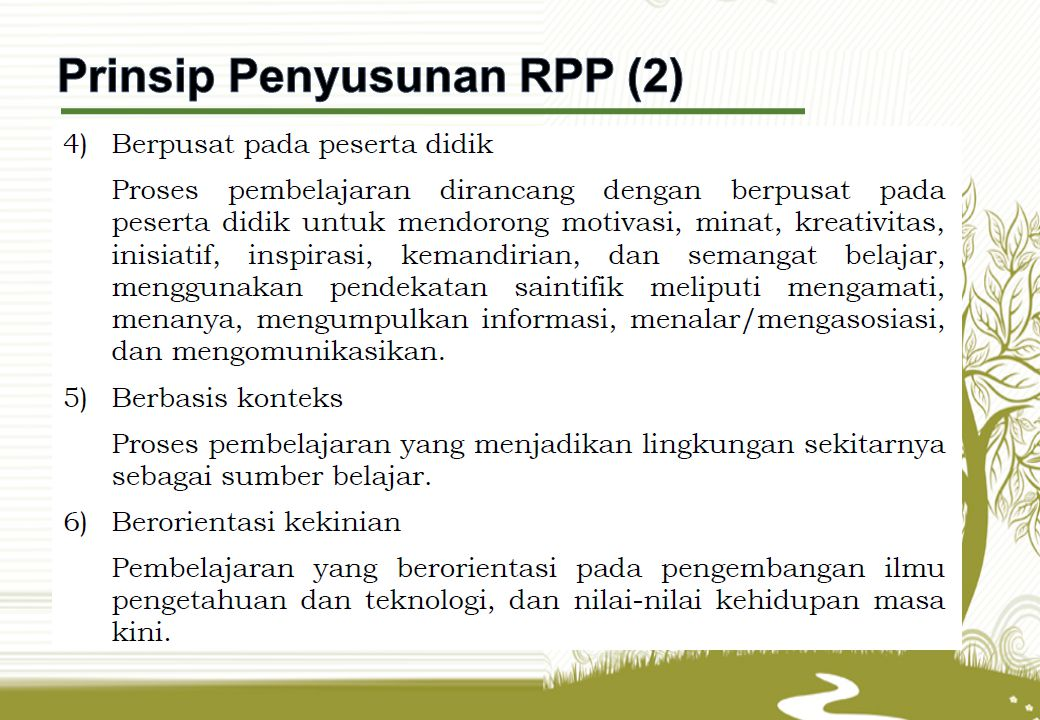 Prinsip Penyusunan RPP (2)