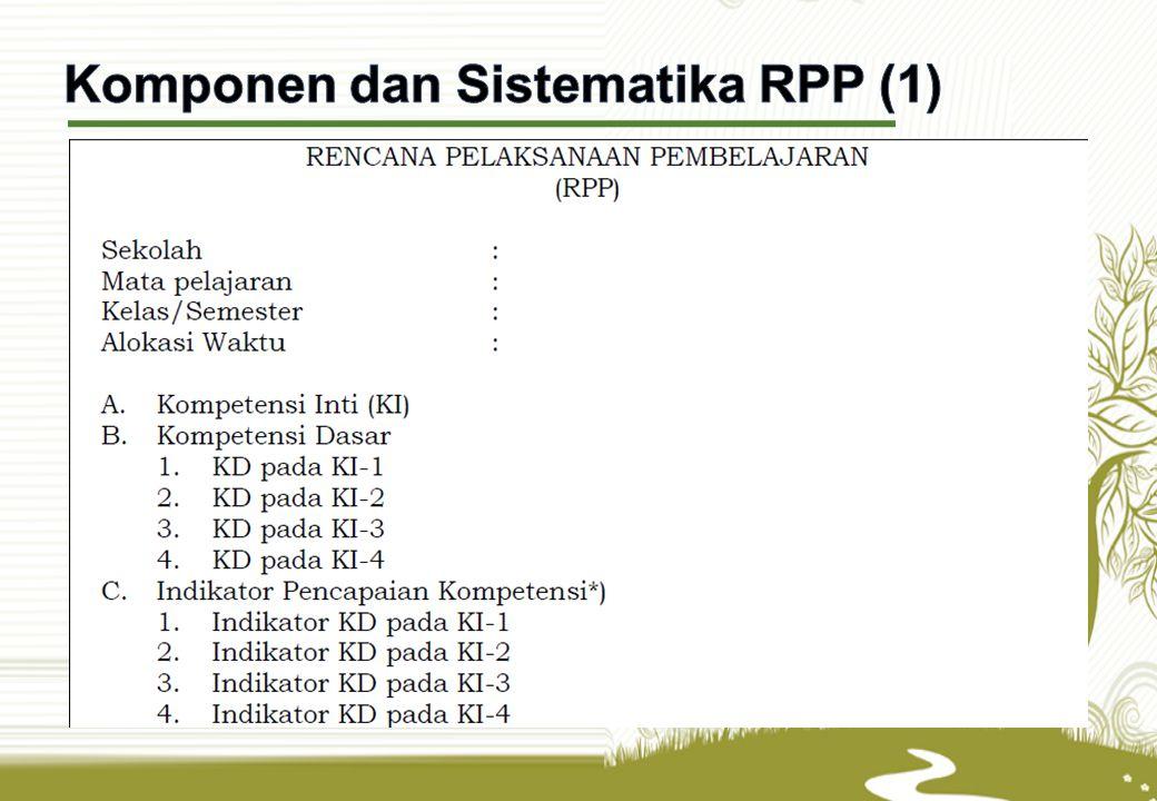 Komponen dan Sistematika RPP (1)