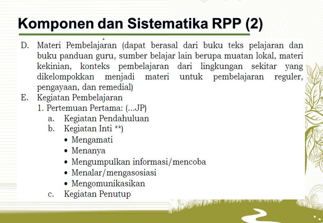 Komponen dan Sistematika RPP (2)