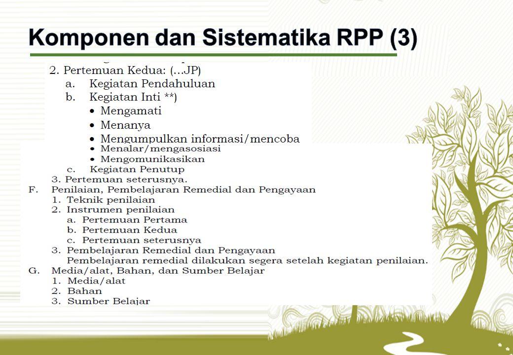 Komponen dan Sistematika RPP (3)