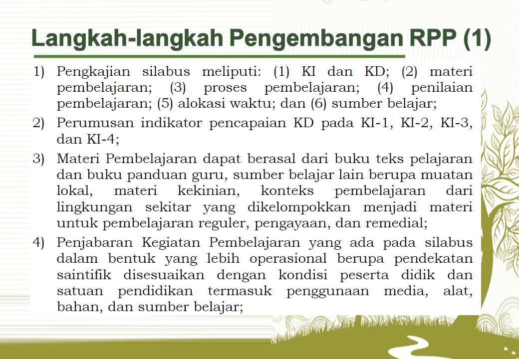 Langkah-langkah Pengembangan RPP (1)