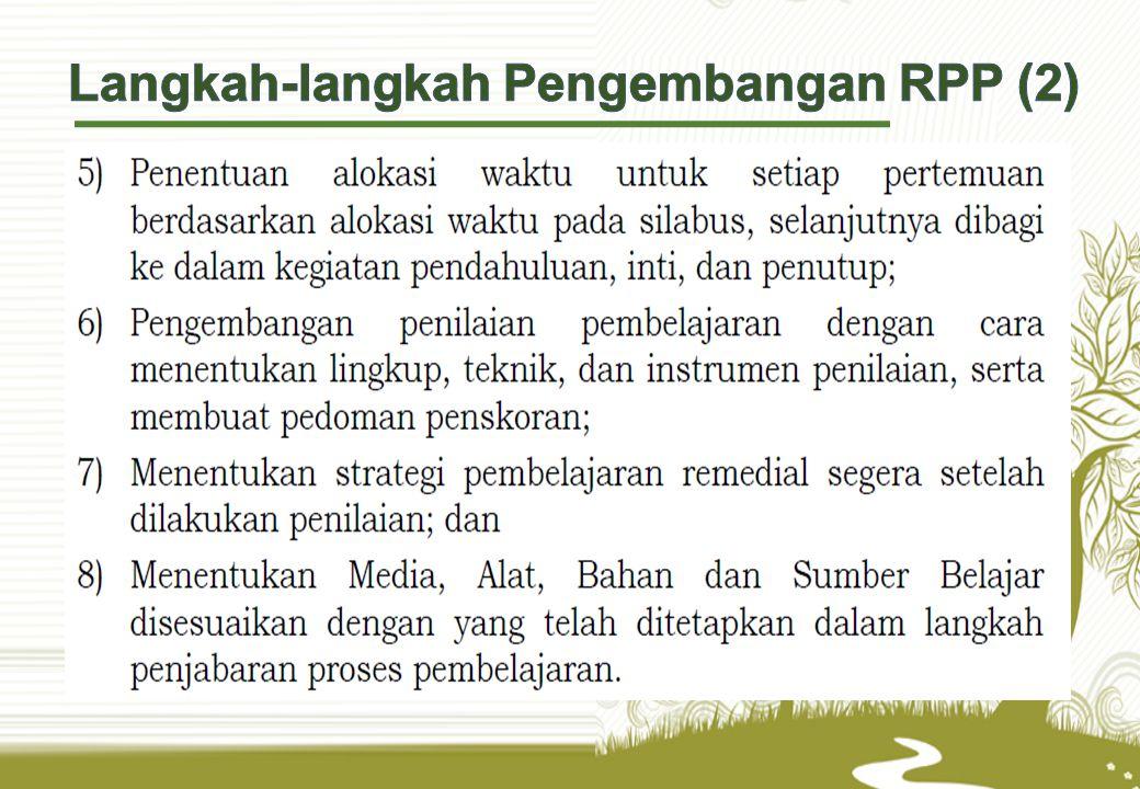 Langkah-langkah Pengembangan RPP (2)