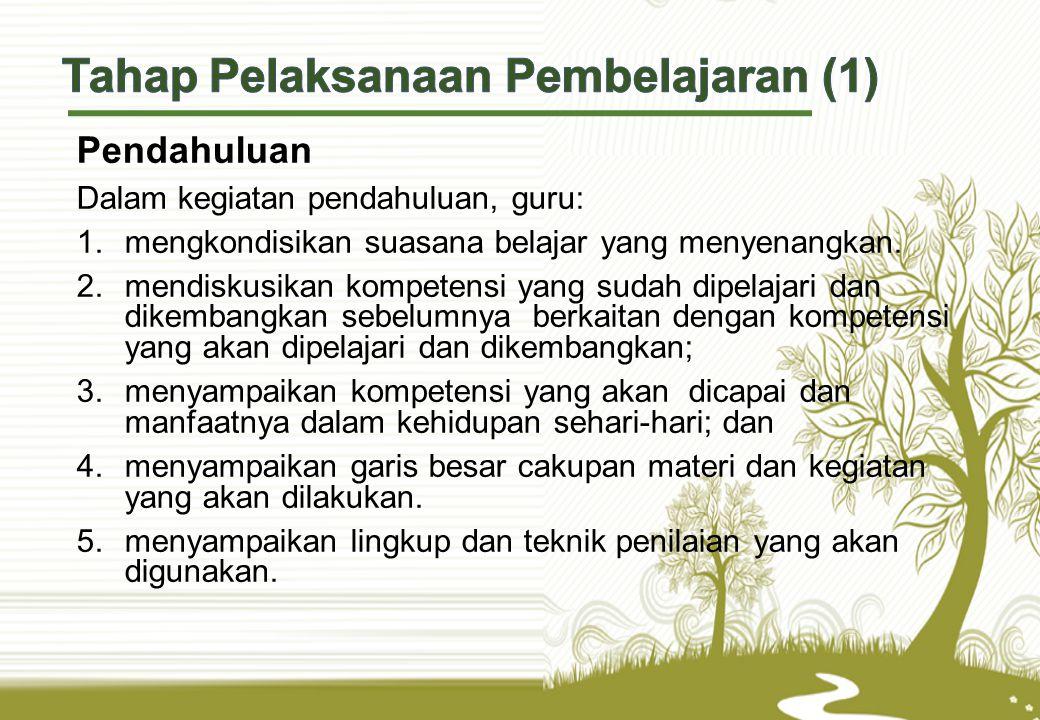 Tahap Pelaksanaan Pembelajaran (1)