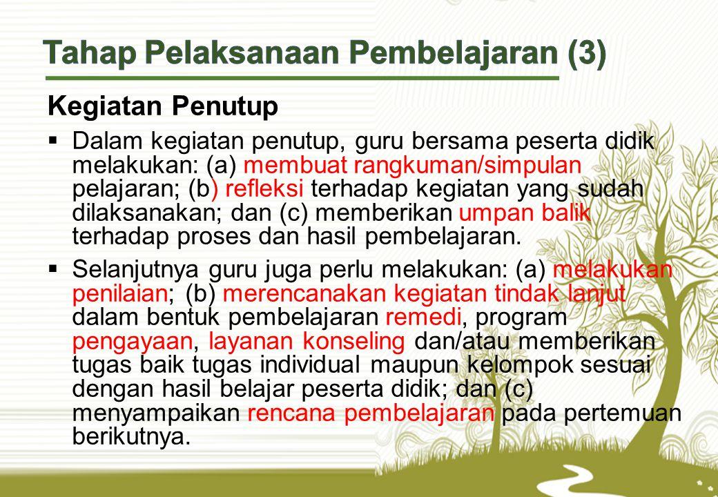 Tahap Pelaksanaan Pembelajaran (3)