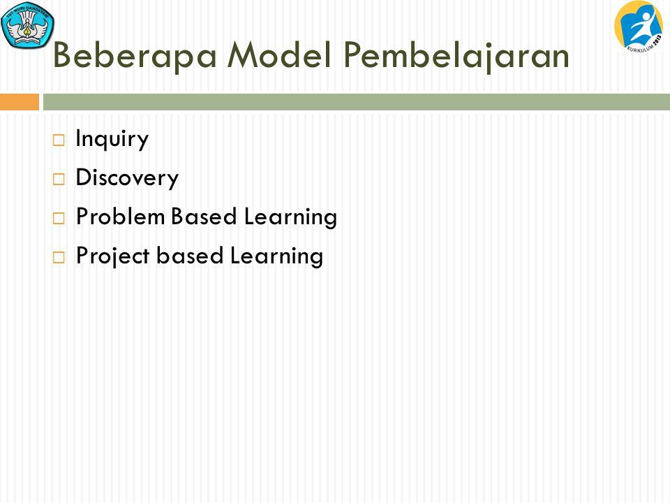 Beberapa Model Pembelajaran