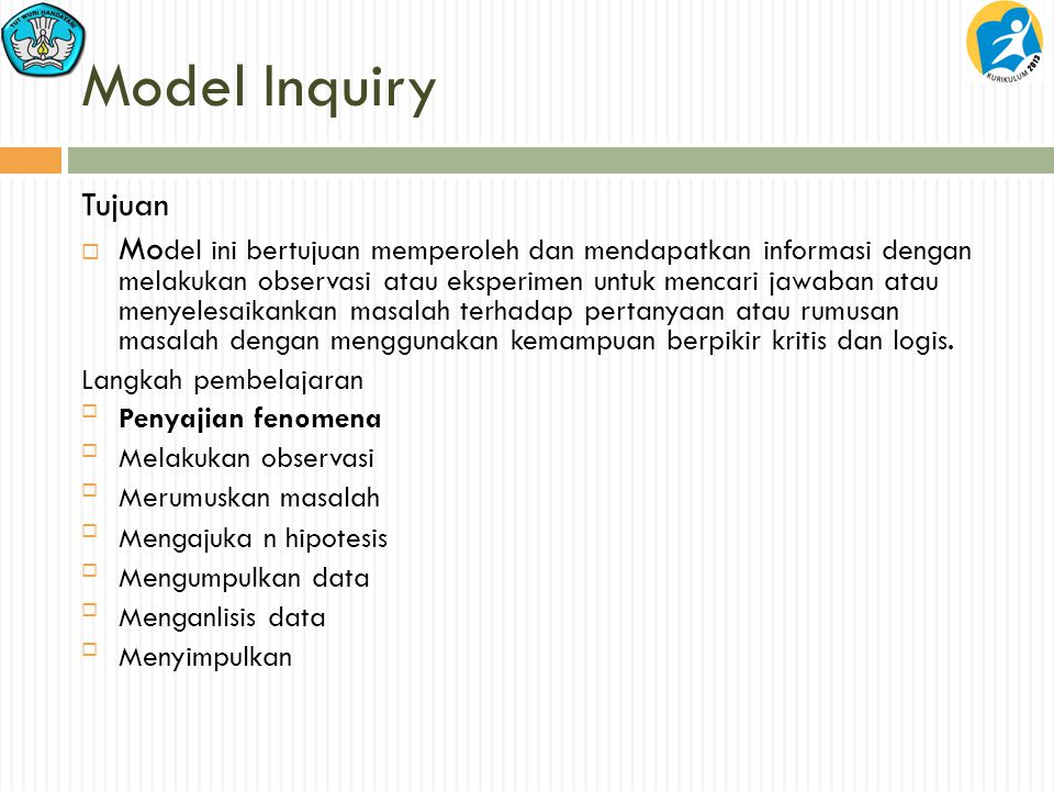 Model Inquiry Tujuan.