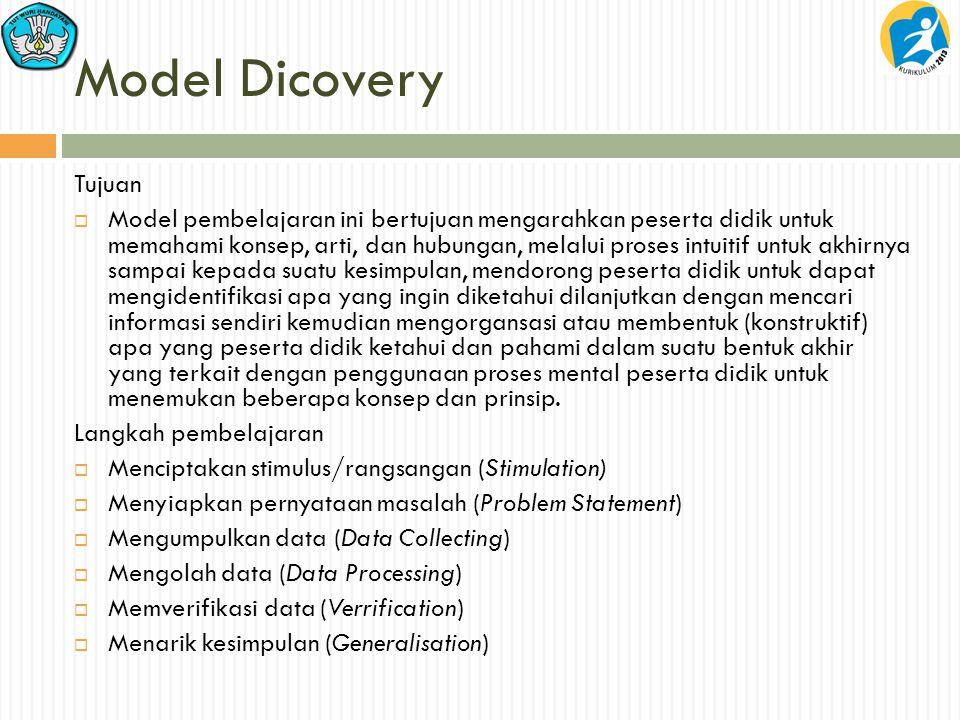 Model Dicovery Tujuan.